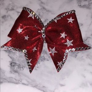 Miniature clip on cheer bow! 4th of July inspired